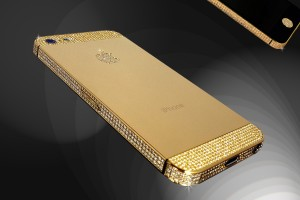 Goldstriker iPhone 5 i guld och briljanter