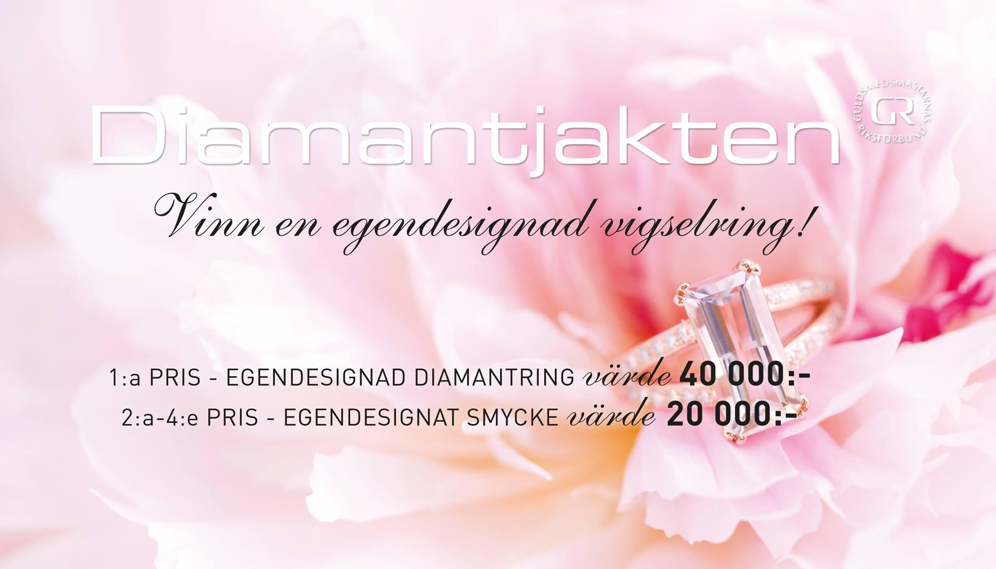 Vinn en egendesignad diamantring värd 40.000:-
