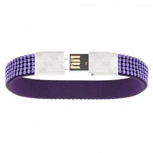 USB-armband på 8GB med Tanzanite-kristaller från Swarovski