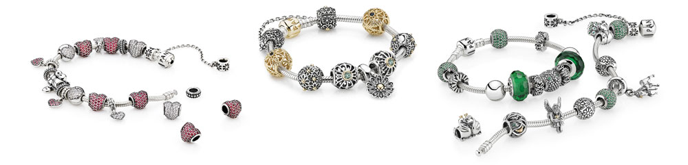 PANDORA Jewelry - Berlocker, klockor, ringar & andra smycken