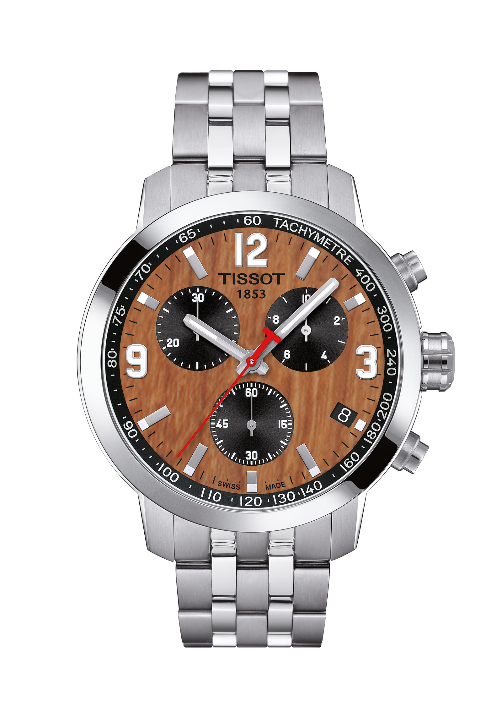 TISSOT T0554171129700 CBA Collection PRC 200/GR/CHRQ/STEEL/BROWN DIAL CBA 16