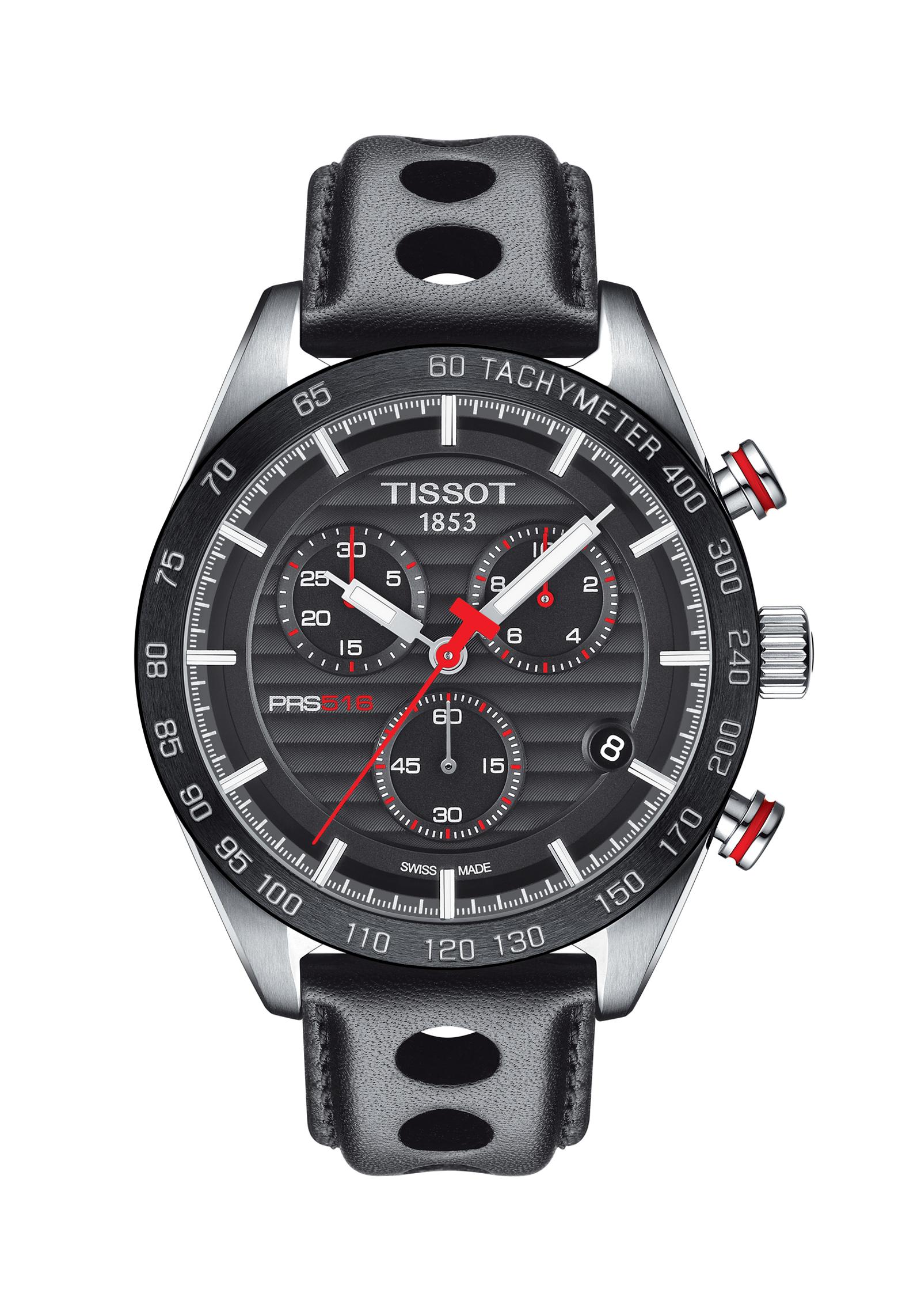 TISSOT T1004171605100 PRS 516 Quartz PRS516/GR/CHRQ/STEEL/LEA.BLACK/BLACK