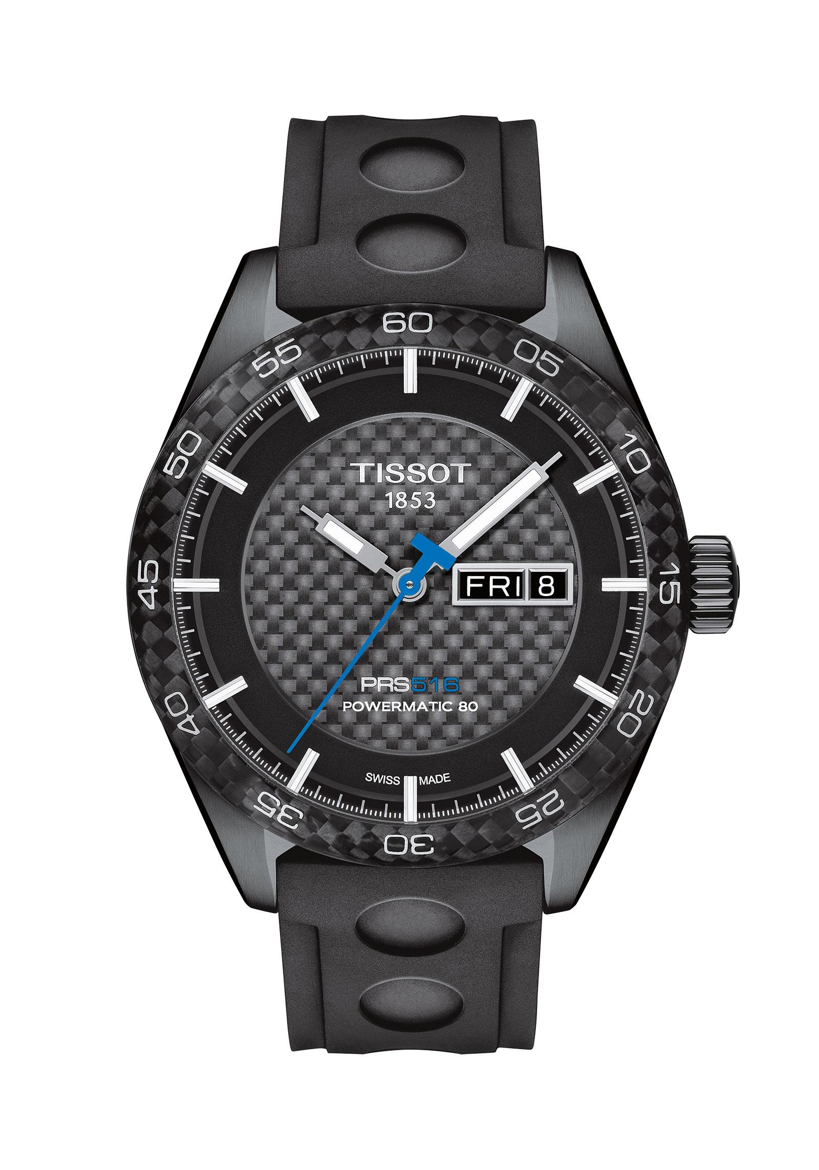 TISSOT T1004303720100 PRS 516 Automatic PRS516/GR/A/BLACK PVD/SYNT BLACK/CARBON