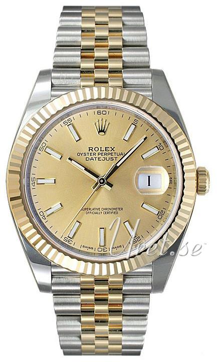 Rolex Datejust41 Herrklocka 126333-0010 Gulguldstonad/18 karat gult
