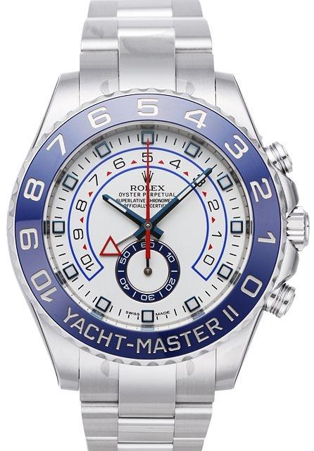 Rolex Yacht-Master II Herrklocka 116680-0002 Vit/Stål Ø44 mm