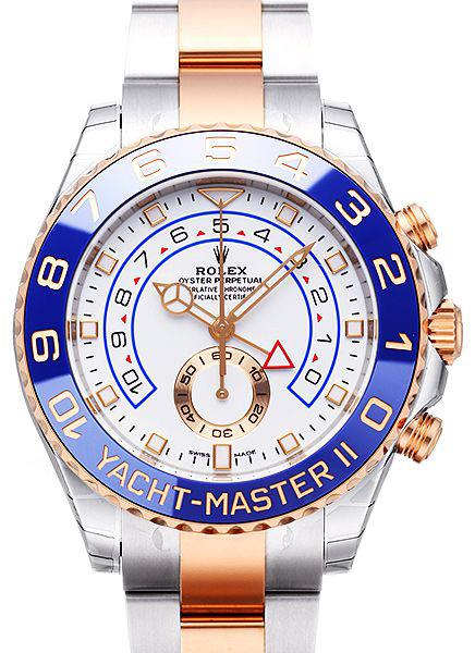 Rolex Yacht-Master II Herrklocka 116681-0002 Vit/18 karat roséguld