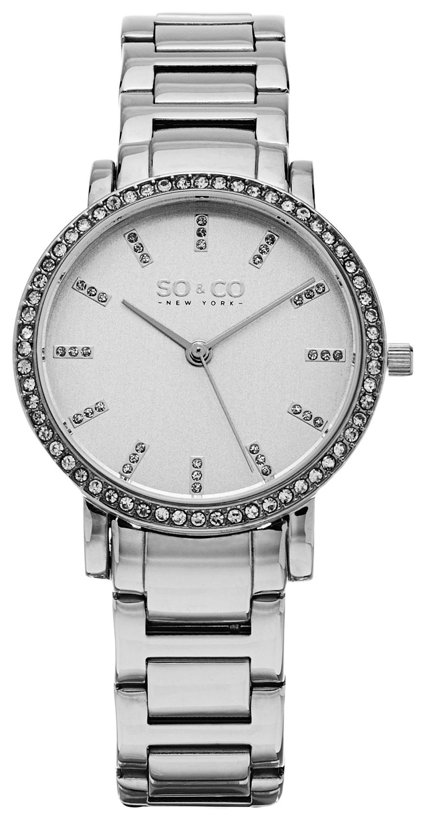So & Co New York Madison Damklocka 5060.1 Silverfärgad/Stål
