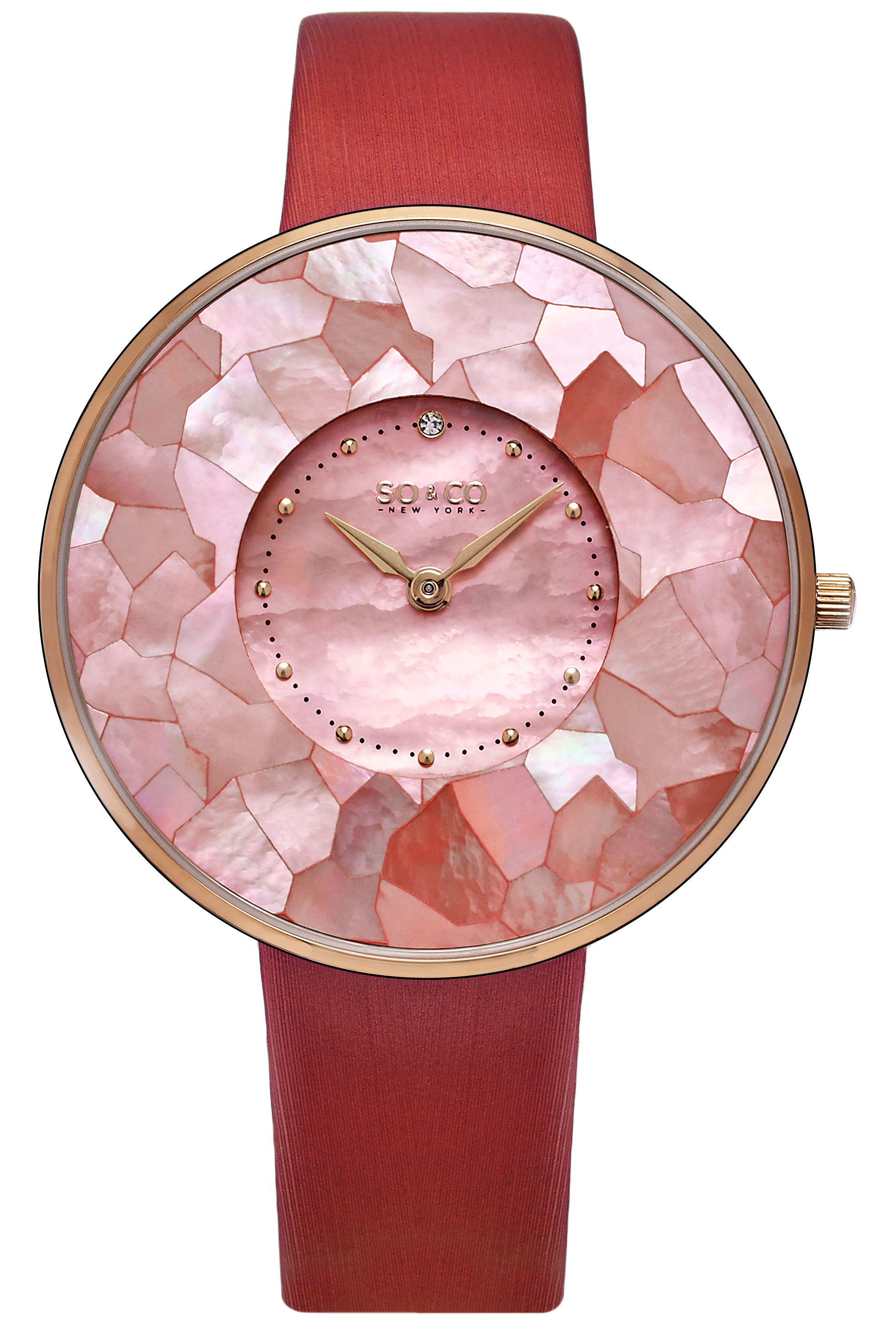 So & Co New York SoHo Damklocka 5274.3 Rosa/Satin Ø38 mm