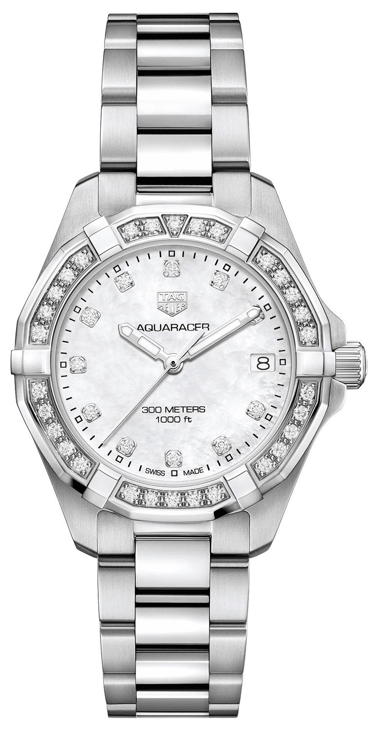 TAG Heuer Aquaracer Lady Damklocka WBD1315.BA0740 Vit/Stål Ø32 mm