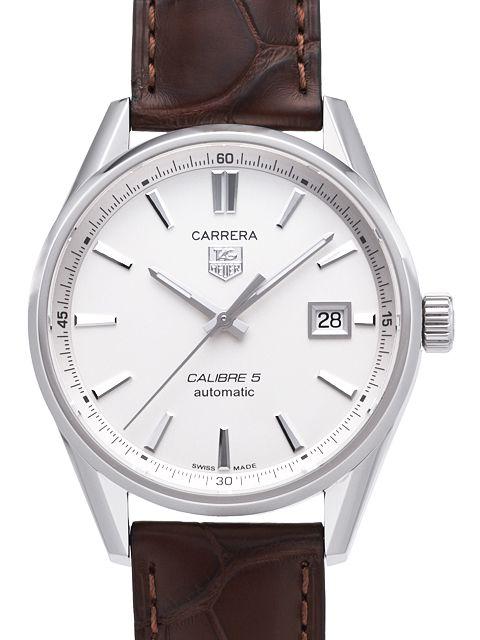 TAG Heuer Carrera Herrklocka WAR211B.FC6181 Silverfärgad/Läder Ø39