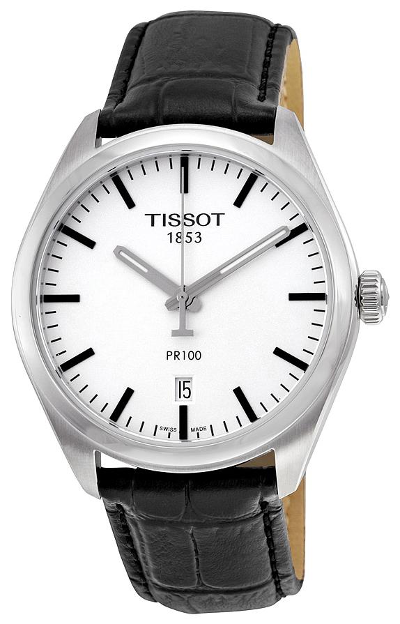 Tissot PR 100 Gent Herrklocka T101.410.16.031.00 Silverfärgad/Läder