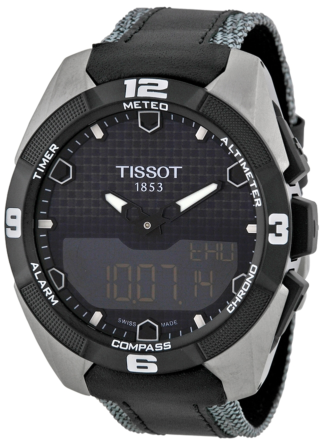 Tissot PRS 516 Herrklocka T091.420.46.051.01 Svart/Textil Ø45 mm
