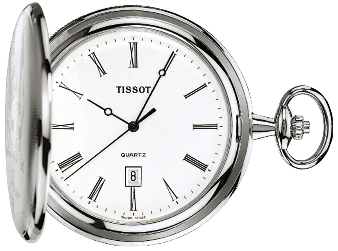 Tissot T-Pocket Savonnette Quartz T83.6.508.13 Vit Ø50 mm