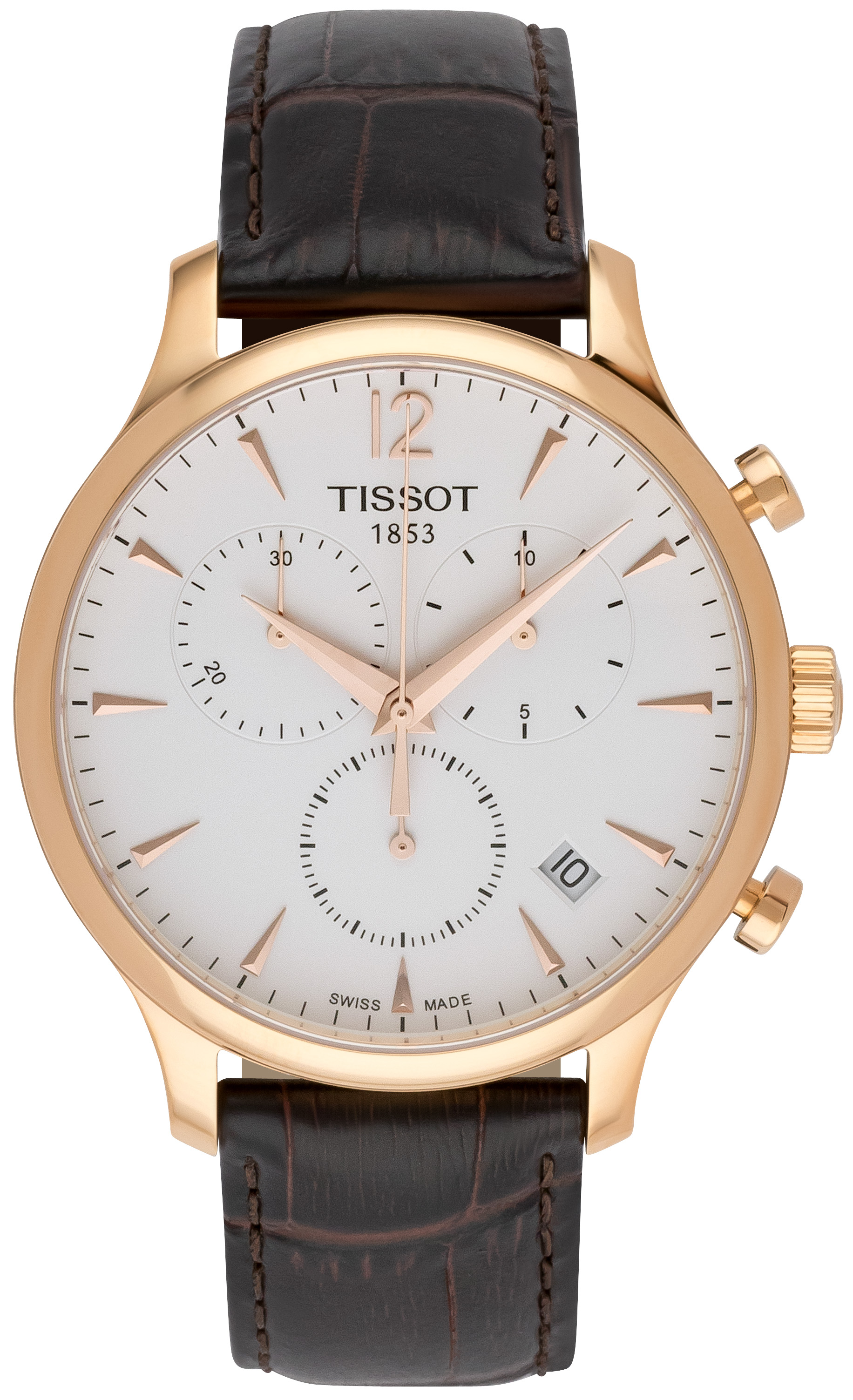Tissot Tradition Herrklocka T063.617.36.037.00 Vit/Läder Ø42 mm