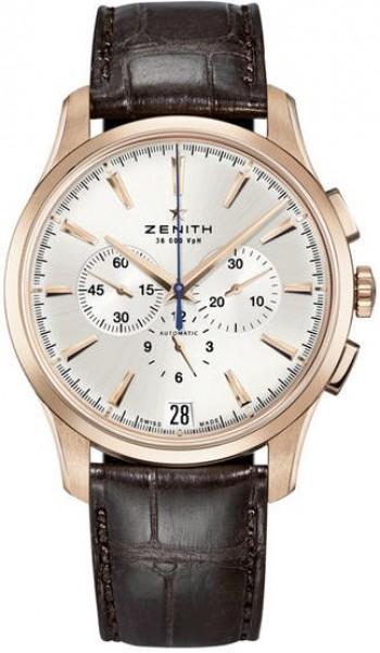 Zenith Captain Herrklocka 18.2110.400-01.C498 Silverfärgad/Läder