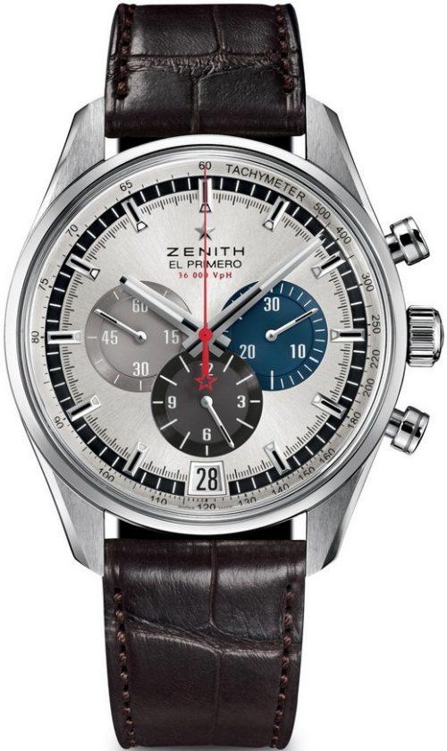 Zenith El Primero Herrklocka 03.2040.400-69.C494 Silverfärgad/Läder