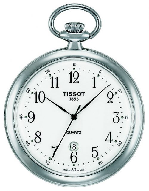 Tissot T-Pocket Lepine Quartz T82.6.550.12 Vit Ø48.68 mm