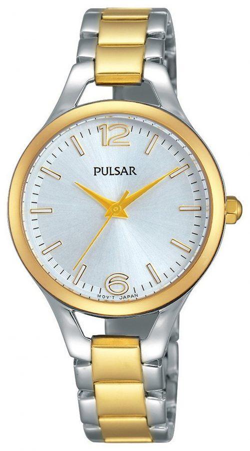 Pulsar Dress Damklocka PH8186X1 Silverfärgad/Gulguldtonat stål Ø30