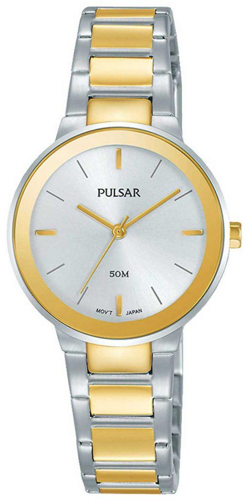 Pulsar Dress Damklocka PH8284X1 Silverfärgad/Gulguldtonat stål Ø28