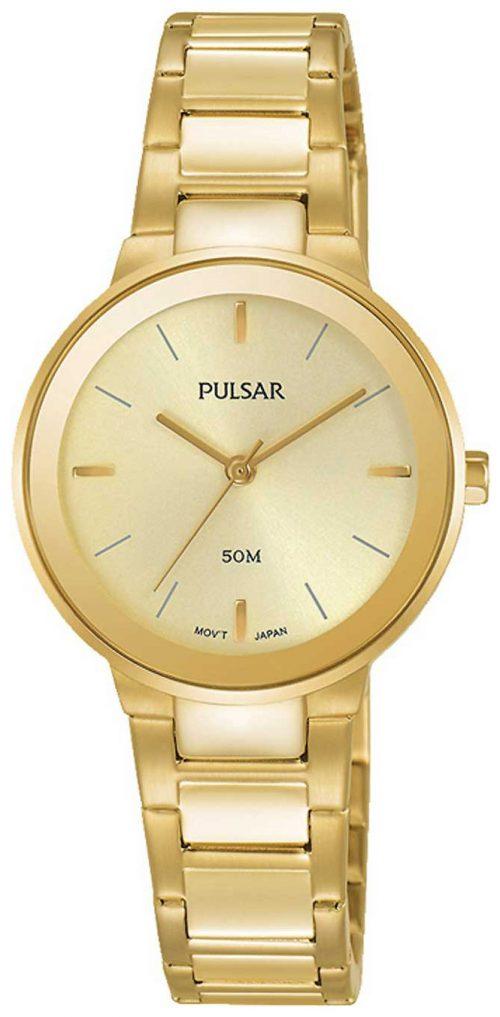 Pulsar Dress Damklocka PH8288X1 Gulguldstonad/Gulguldtonat stål Ø28