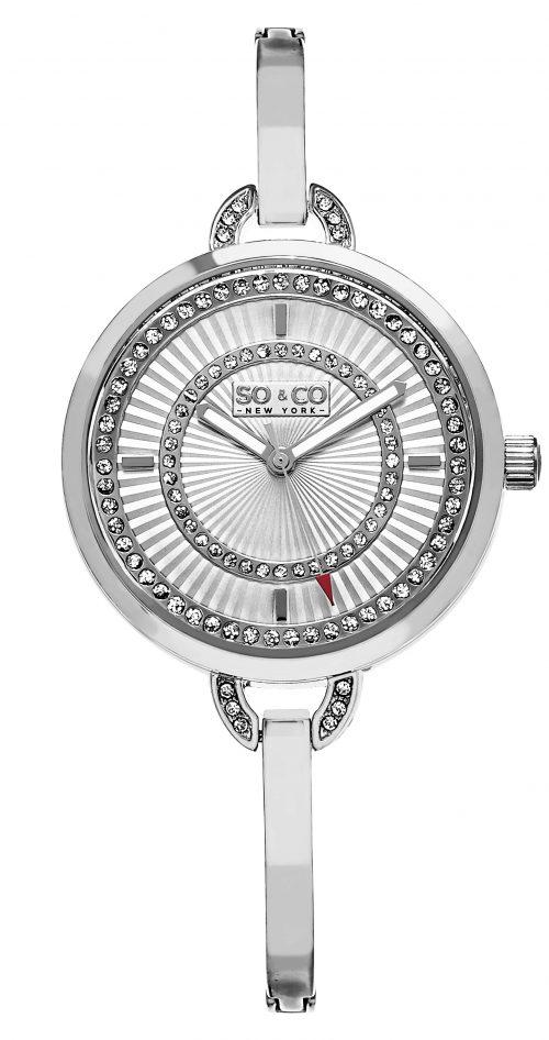 So & Co New York Lenox Damklocka 5222.1 Silverfärgad/Stål Ø36