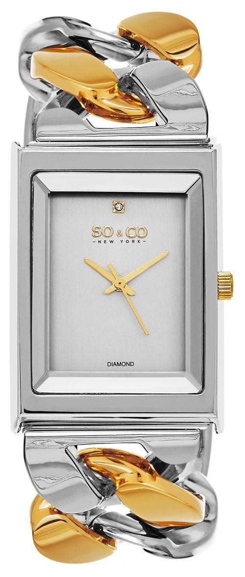So & Co New York SoHo Damklocka 5094.4 Silverfärgad/Gulguldtonat