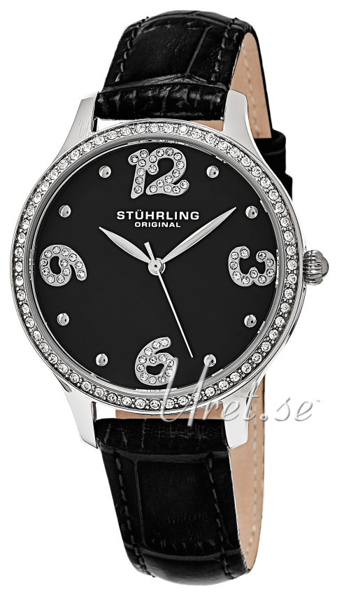 Stührling Original Vogue Chic Damklocka 560.02 Svart/Läder Ø36 mm