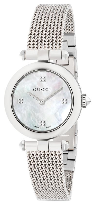 Gucci Diamantissima Damklocka YA141504 Vit/Stål Ø27 mm