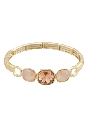 BY JOLIMA Glam Bangle Bracelet Champagne Gold One size
