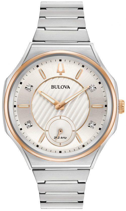 Bulova Diamond 98P182 Silverfärgad/Stål Ø40.5 mm