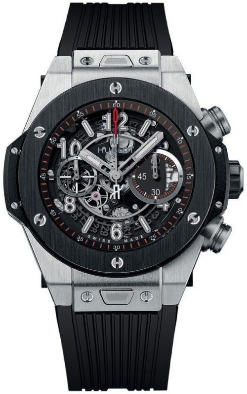 Hublot Big Bang 42Mm Herrklocka 441.NM.1170.RX Svart/Gummi Ø42 mm
