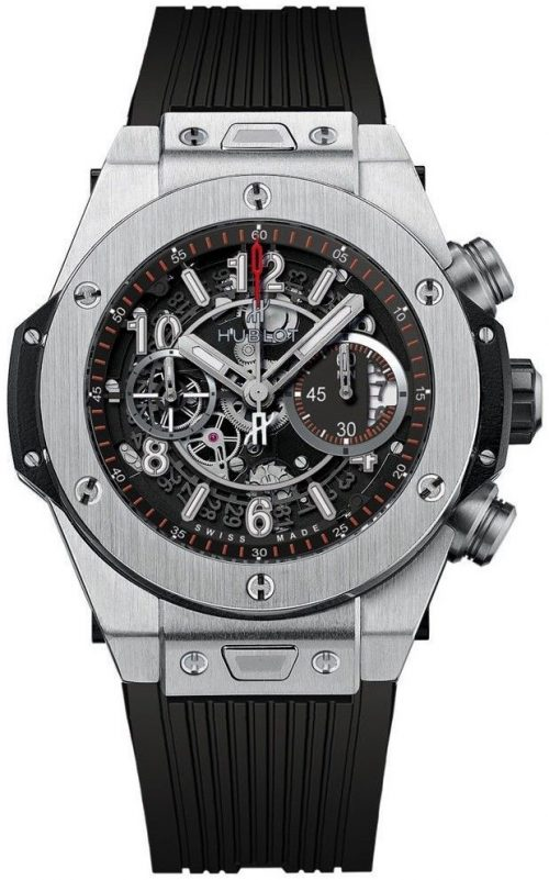 Hublot Big Bang 42Mm Herrklocka 441.NX.1170.RX Svart/Gummi Ø42 mm