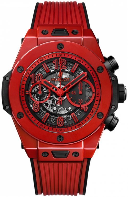 Hublot Big Bang 45Mm Herrklocka 411.CF.8513.RX Grå/Gummi Ø45 mm