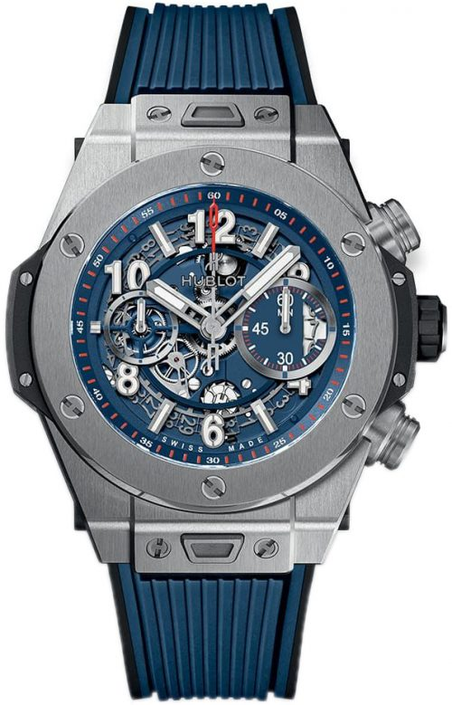Hublot Big Bang 45Mm Herrklocka 411.NX.5179.RX Blå/Gummi Ø45 mm