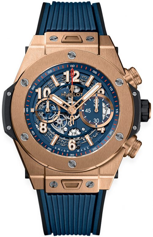 Hublot Big Bang 45Mm Herrklocka 411.OX.5189.RX Blå/Gummi Ø45 mm