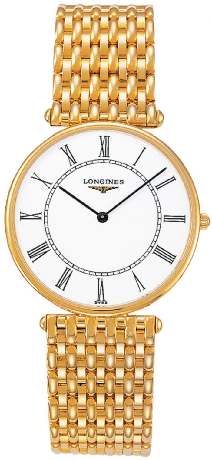 Longines Agassiz Herrklocka L4.691.6.11.6 Vit/18 karat gult guld Ø33