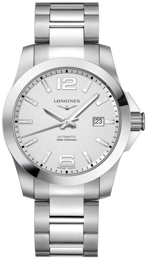 Longines Conquest Herrklocka L3.777.4.76.6 Silverfärgad/Stål Ø41 mm