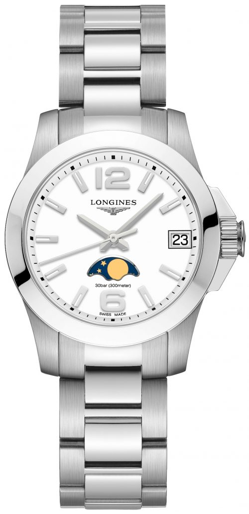 Longines Conquest Ladies Damklocka L3.380.4.16.6 Vit/Stål Ø29.5 mm