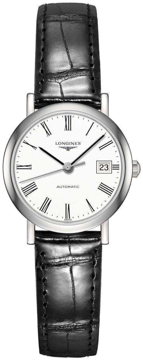 Longines Elegant Damklocka L4.309.4.11.2 Vit/Läder Ø25.5 mm