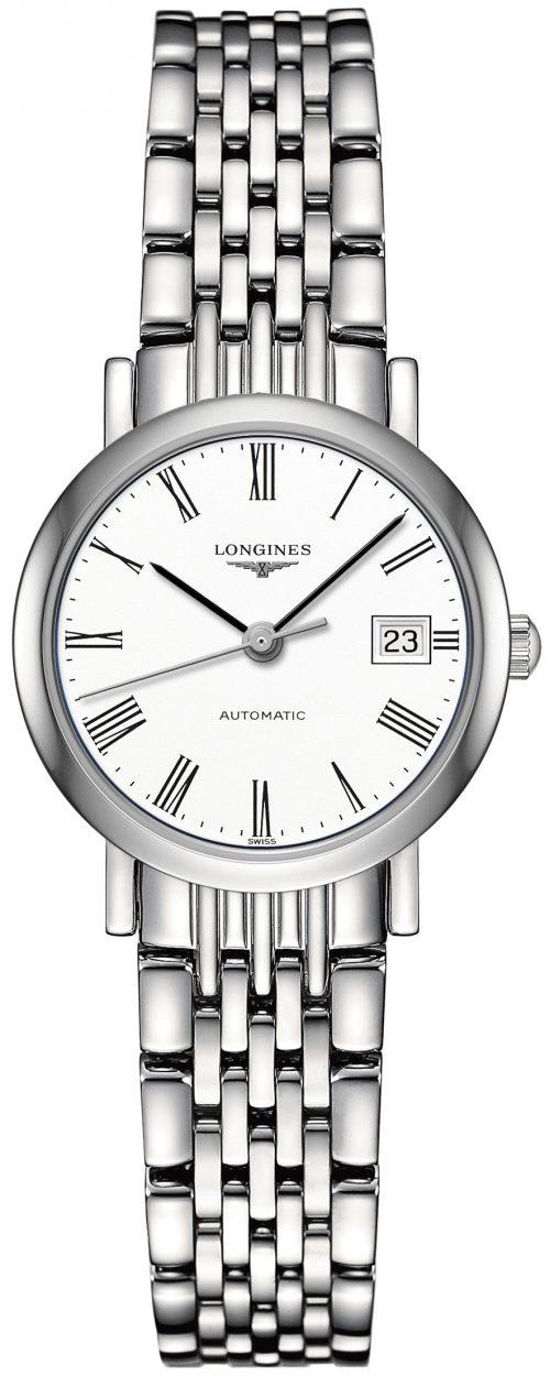 Longines Elegant Damklocka L4.309.4.11.6 Vit/Stål Ø25.5 mm