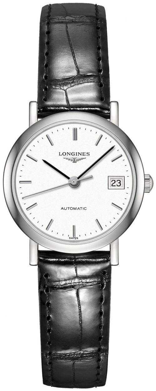 Longines Elegant Damklocka L4.309.4.12.2 Vit/Läder Ø25.5 mm