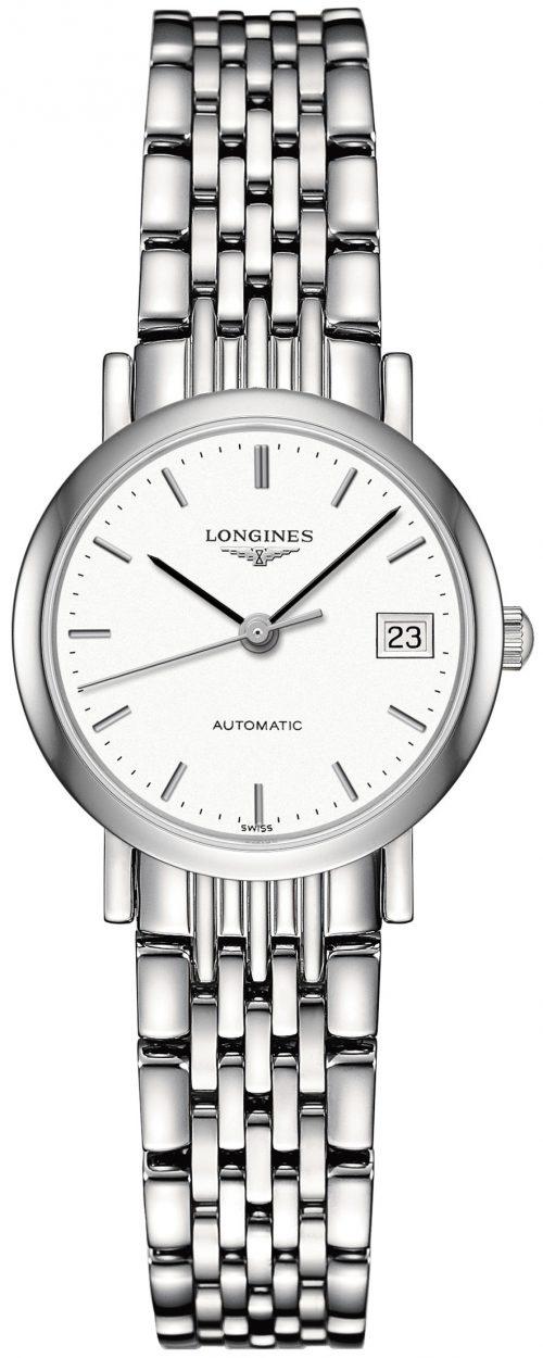 Longines Elegant Damklocka L4.309.4.12.6 Vit/Stål Ø25.5 mm