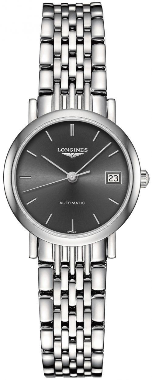 Longines Elegant Damklocka L4.309.4.72.6 Grå/Stål Ø25.5 mm