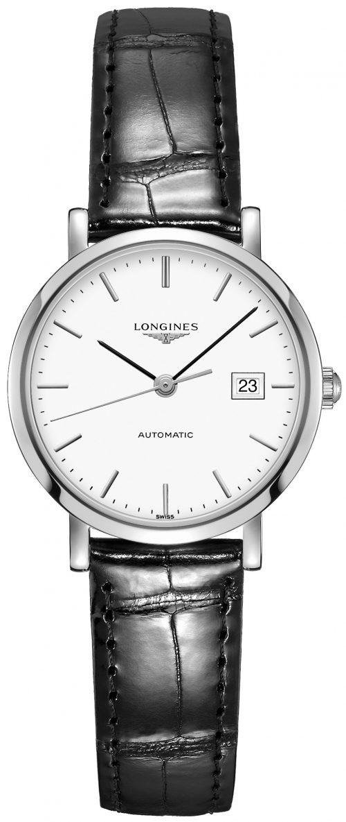 Longines Elegant Damklocka L4.310.4.12.2 Vit/Läder Ø29 mm
