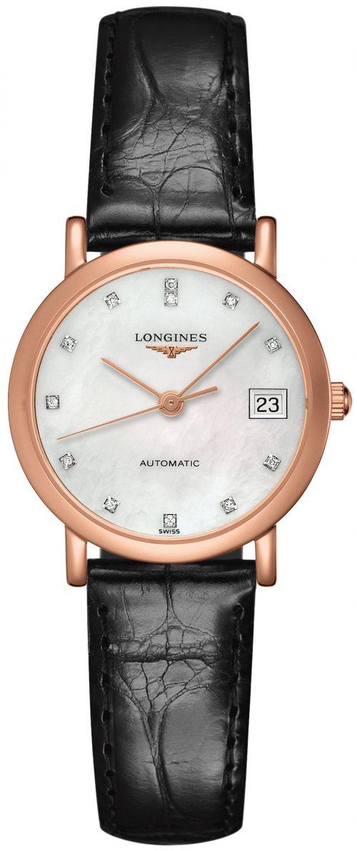Longines Elegant Damklocka L4.378.8.87.0 Vit/Läder Ø27.2 mm