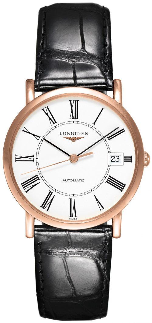 Longines Elegant Damklocka L4.778.8.11.4 Vit/Läder Ø34.5 mm