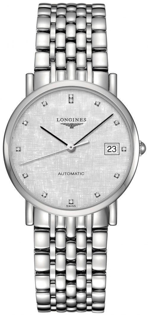 Longines Elegant Damklocka L4.809.4.77.6 Silverfärgad/Stål Ø34.5 mm