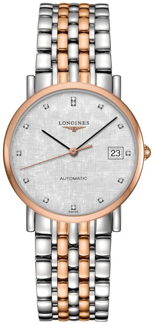 Longines Elegant Damklocka L4.809.5.77.7 Silverfärgad/18 karat