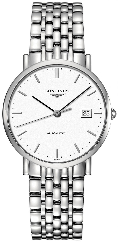 Longines Elegant Herrklocka L4.810.4.12.6 Vit/Stål Ø37 mm