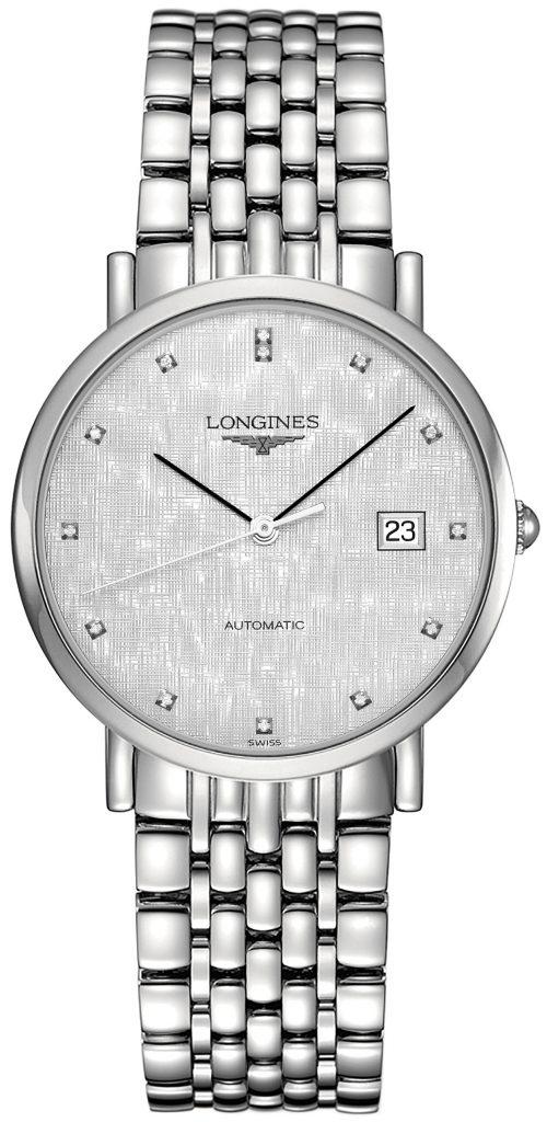 Longines Elegant Herrklocka L4.810.4.77.6 Silverfärgad/Stål Ø37 mm